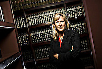 Lohra Miller, Salt Lake District Attorney poses for a portrait in the library at the District Attorney's offices in Salt Lake City, Utah, Thursday, Feb. 19, 2009. August Miller, Deseret News .