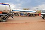 Trucks Near Border Crossing To Zimbabwe