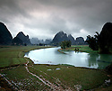 AA01207-03...CHINA - Tributary to the Li River near Yangshuo.