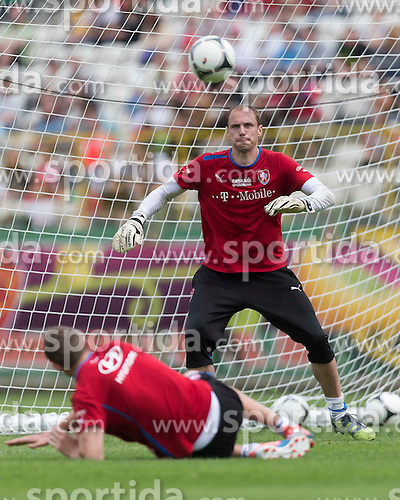 09.06.2012, Stadion Oporowski, Breslau, POL, UEFA EURO 2012, Tschechische Republik, Training, im Bild CZESI TRENING // during the during EURO 2012 Trainingssession of Czech Nationalteam, at the stadium Oporowski, Breslau, Poland on 2012/06/09. EXPA Pictures © 2012, PhotoCredit: EXPA/ Newspix/ Sebastian Borowski..***** ATTENTION - for AUT, SLO, CRO, SRB, SUI and SWE only *****
