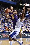 UK guard Julius Mays guarding LSU senior guard Charles Carmouche while he shoots the ball during the second half of the men's basketball game vs. LSU at Rupp Arena on Saturday, January 26, 2013, in Lexington, Ky. Photo by Kalyn Bradford | Staff
