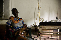 Rostica, age 18 and her son Bernard Congolese refugees in Naandi, South Sudan. The child, Bernard was severely malnourished.