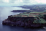 The fertile countryside is divided into a patchwork of green fields called cerrado, separated either rock walls or  hedges of hydrangeas.  Far out in the Atlantic Ocean, some 850 miles off the western coast of Lisbon, Portugal lies the 425-mile long archipelago of the Azores. (Jim Bryant Photo).....