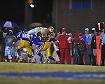 Oxford High vs. Lafayette High's D.K. Buford (2) at Bobby Holcomb Field in Oxford, Miss. on Thursday, August 30, 2012. Oxford High won 19-0.