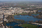 The  Thames, Oxford in  flood . <br /> View Nroth East towards Christchurch meadow in full flood and central  Oxford .