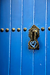 Africa, Morocco, Rabat. Blue Door of Kasbah of Oudaya, a UNESCO World Heritage Site.