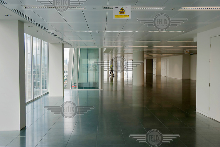An empty floor in The Shard, which will be the tallest building in Western Europe and is due to be completed and officially inaugurated on the 5th July 2012, opening to the public in 2013. It will contain offices, restaurants, a hotel, apartments and an observation deck.