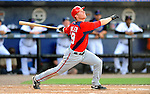 28 February 2011: Washington Nationals' infielder Brian Bixler in action during a Spring Training game against the New York Mets at Digital Domain Park in Port St. Lucie, Florida. The Nationals defeated the Mets 9-3 in Grapefruit League action. Mandatory Credit: Ed Wolfstein Photo