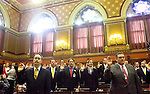 HARTFORD, CT- 03 JANUARY 07- 010307JT20-<br /> Swearing in of members of the General Assembly's 2007 session at the Capitol in Hartford.<br /> Josalee Thrift Republican-American