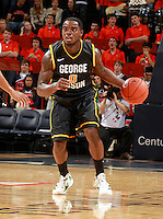 CHARLOTTESVILLE, VA- DECEMBER 6: Bryon Allen #0 of the George Mason Patriots handles the ball during the game on December 6, 2011 against the Virginia Cavaliers at the John Paul Jones Arena in Charlottesville, Virginia. Virginia defeated George Mason 68-48. (Photo by Andrew Shurtleff/Getty Images) *** Local Caption *** Bryon Allen