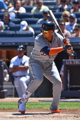Victor Martinez (Tigers),<br /> JUNE 12, 2016 - MLB :<br /> Victor Martinez of the Detroit Tigers during the Major League Baseball game against the New York Yankees at Yankee Stadium in the Bronx, New York, United States. (Photo by Hiroaki Yamaguchi/AFLO)
