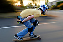 WA03539-00....WASHINGTON - Skateboader Hunter Burke in Edmonds.