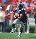 Ole Miss' Jeff Scott (3) runs against Georgia at Vaught-Hemingway Stadium in Oxford, Miss. on Saturday, September 24, 2011. Georgia won 27-13.