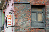 Room for rent sign in Chinatown, Vancouver, British Columbia, Canada