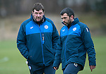 St Johnstone Training&hellip;.20.01.17<br />Manager Tommy Wright pictured with Callum Davidson during training this monring ahead of tomorrow&rsquo;s Scottish Cup game against Stenhousemuir.<br />Picture by Graeme Hart.<br />Copyright Perthshire Picture Agency<br />Tel: 01738 623350  Mobile: 07990 594431