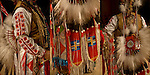 Close up of Native American Pow Wow Regalia. Examples of ethnic pride, heritage and culture, A celebration of  Native traditional folk art regalia.<br /> <br /> Powwow Regalia - GOR-84457-11<br /> Powwow Regalia - GOR-84454-11<br /> Powwow Regalia - GOR-84458-11