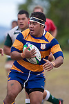 Patumahoe hooker and try scorer Ilisiah Maasi. Counties Manukau Premier Club Rugby game between Manurewa and Patumahoe played at Mountfort Park Manurewa on Saturday 3rd April 2010..Patumahoe won 26 - 8 after leading 14 - 3 at halftime.