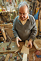 Despite being over 80 years old, this man can keep working driven by pure passion and only because is the workshop owner,