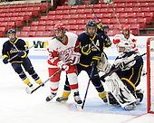 Britt Hergesheimer (BU - 2), Cassandra Finn (Windsor - 71), Kasey Martin (Windsor - 20) - The Boston University Terriers defeated the visiting University of Windsor Lancers 4-1 in a Saturday afternoon, September 25, 2010, exhibition game at Walter Brown Arena in Boston, MA.