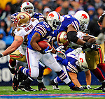 30 November 2008: Buffalo Bills' running back Marshawn Lynch in action against the San Francisco 49ers at Ralph Wilson Stadium in Orchard Park, NY. The 49ers defeated the Bills 10-3. ***** Editorial Use Only ******..Mandatory Photo Credit: Ed Wolfstein Photo