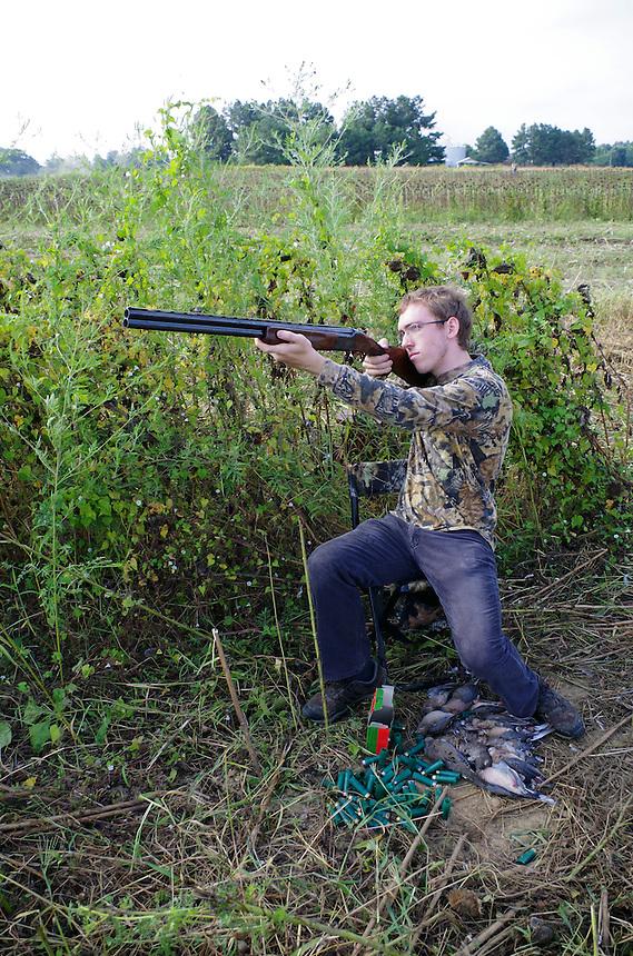 Mourning dove hunter, Cross County, Arkansas