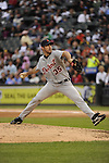CHICAGO - SEPTEMBER 18:  Justin Verlander #35 of the Detroit Tigers pitches against the Chicago White Sox on September 18, 2010 at U.S. Cellular Field in Chicago, Illinois.  The Tigers defeated the White Sox 6-3.  (Photo by Ron Vesely)