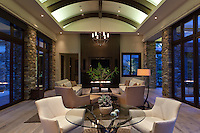 Dramatic Barrel ceiling with indirect lighting