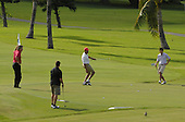 Kailua, Hawaii - December 29, 2008 -- United States President-elect Barack Obama watches his putt on the ninth hole during golf with friends in Kailua, Hawaii on Monday, December 29, 2008. Obama and his family arrived in his native Hawaii December 20 for the Christmas holiday..Credit: Joaquin Siopack - Pool via CNP