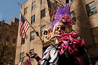 Easter Bonnet Parade along Fifth Avenue in New York April , 2012.  Photo by Kena Betancur / VIEWpress.
