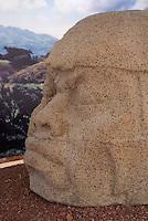 Smallest known colossal Olmec head,  Museo Tuxteco, Santiago Tuxtla, Veracruz, Mexico