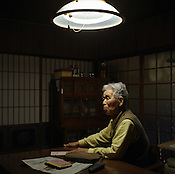 Kuniyoshi Sato, 86 years old, in his home on Amakusa Island, near Nagasaki, Japan, on Wednesday May 25th 2005. Sato was in Hiroshima on the day of the first atomic bombing, 6th Aug. 1945, and also in Nagasaki three days later on the day of the second atomic bombing of Japan by US Military. Nagasaki, Japan.