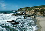California, CA, Sonoma Coast, Bodega Head at Bodega Bay, beach and rock formations. .Photo cabeac204. .Photo Copyright: Lee Foster, www.fostertravel.com, 510-549-2202, lee@fostertravel.com