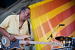 George Porter Jr. performs at the New Orleans Jazz and Heritage Festival in New Orleans, Louisiana, April 29, 2011.