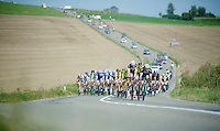 Iljo Keisse (BEL/OmegaPharma-Quickstep) leading the peloton<br /> <br /> Grand Prix de Wallonie 2014