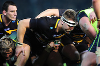 Paul Hill of Northampton Saints prepares to scrummage against his opposite number. European Rugby Champions Cup match, between Northampton Saints and Leinster Rugby on December 9, 2016 at Franklin's Gardens in Northampton, England. Photo by: Patrick Khachfe / JMP