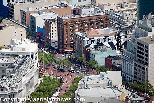 aerial photograph mid Market Streeet Civic Center San Francisco, California