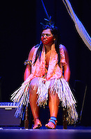 MIAMI, FL - SEPTEMBER 29: Wannu, Yawavana, KenewecÌ, Matsini, Pek˙ti, Meu, Matsa Hushahu and Hukena performs during the Journey to Mutum: A Cultural Encounter with the Yawanaw· Tribe of the Brazilian Amazon at Miami Theater Center on September 29, 2016 in Miami, Florida. Credit: MPI10 / MediaPunch