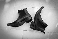 Cuban Heel Black Leather Boots - Sept 2013.