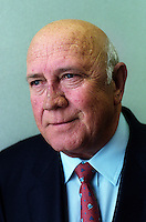 Former President and Nobel Prize winner, F W De Klerk.