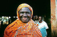 Friendly Luyha woman in the small town of Khayega near the Kakamega forest in west Kenya.