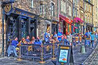 The Last Drop Pub on Grassmarket in Edinburgh.