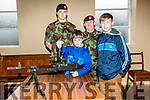 At the Ballymullen Baracks open Day on Monday were Dara Mannion and Conor Mannion with Pte Brian Lucid and Pte Evan Lewis