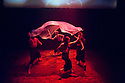 London, UK. 20.06.2014. Belarus Free Theatre present RED FOREST at the Young Vic theatre. Photograph © Jane Hobson.