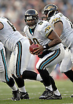 26 November 2006: Jacksonville Jaguars quarterback David Garrard (9) sets to make a hand-off against the Buffalo Bills at Ralph Wilson Stadium in Orchard Park, NY. The Bills defeated the Jaguars 27-24. Mandatory Photo Credit: Ed Wolfstein Photo<br />
