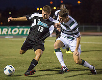 Number 8 ranked Charlotte beats number 16 ranked Coastal Carolina 1-0 on a goal by Thomas Allen in the 101st minute during the second overtime.  Shawn McLaws (13), Donnie Smith (9)