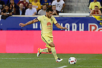 Harrison, NJ - Wednesday July 06, 2016: Miguel Samudio during a friendly match between the New York Red Bulls and Club America at Red Bull Arena.