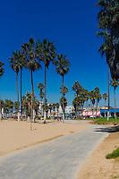 Bike trail In Venice Beach, Los Angeles, California