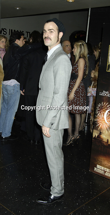 """Justin Theroux ..at a Special Screening of """" Casanova"""" on December 11, 2005 at The Loews Lincoln Square Theatre. ..Photo by Robin Platzer, Twin Images"""