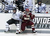 Ross Mauermann (PC - 14), Quinn Smith (BC - 27) - The Providence College Friars tied the visiting Boston College Eagles 3-3 on Friday, December 7, 2012, at Schneider Arena in Providence, Rhode Island.