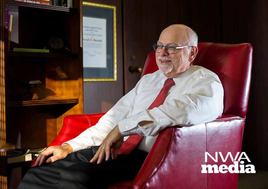 NWA Democrat-Gazette/JASON IVESTER<br /> Joseph Steinmetz, chancellor of the University of Arkansas; photographed on Friday, Jan. 29, 2016, on the Fayetteville campus